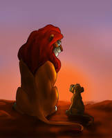 Mufasa And Simba by Aira90