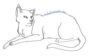 Cat Lineart 12