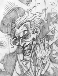 Joker Sketch by NinjaMonkeyBoyX