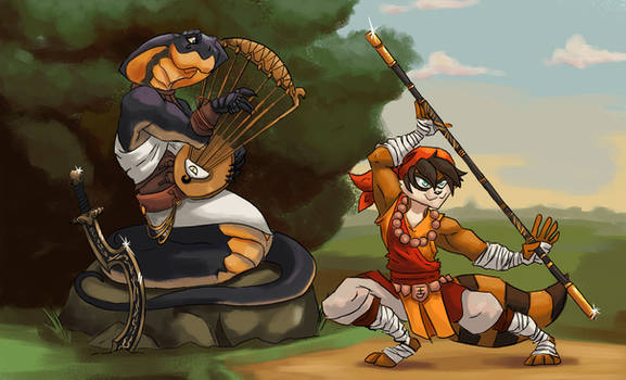 Legends From Larkanum - The Bard and The Monk