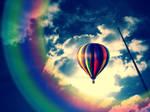 Rainbow in the sky by Emmahag