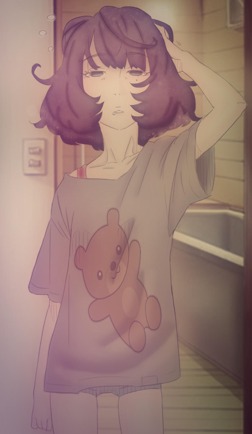 Anime girl waking up (10) by KyoneZN on DeviantArt