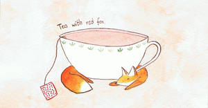 Tea with red fox.