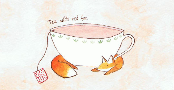 Tea with red fox. by Lutiell