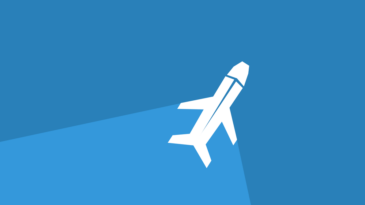 Plane Wallpaper Flat Design By ClassicCoffee