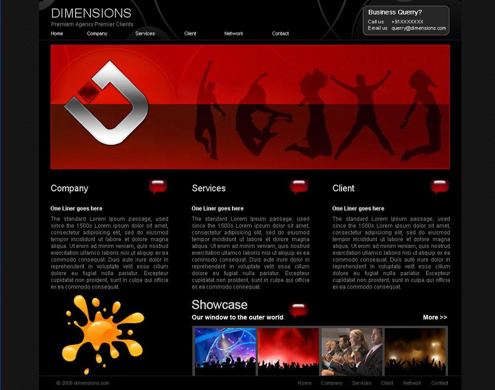 event agency web template by yogesh sharma on deviantart. Black Bedroom Furniture Sets. Home Design Ideas