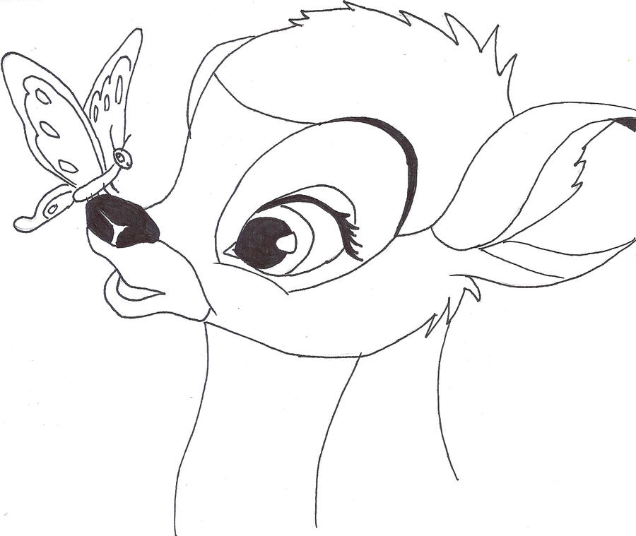 Gallery For gt Bambi Drawing