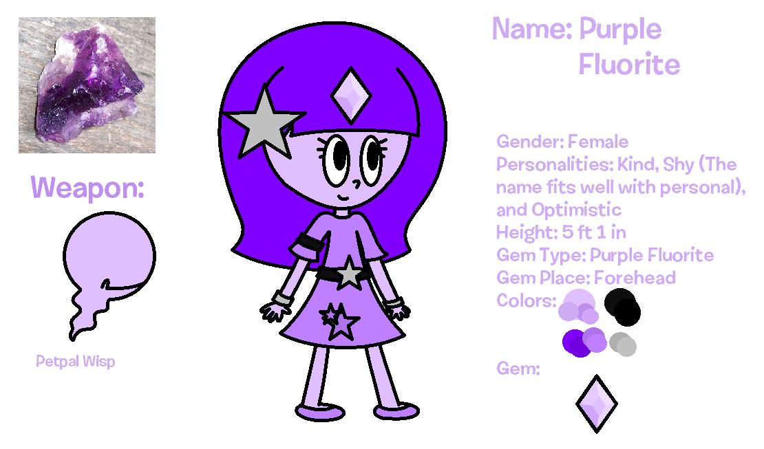 Purple Fluorite (Gemsona) (Edited) by SuperStarMinecraft on DeviantArt