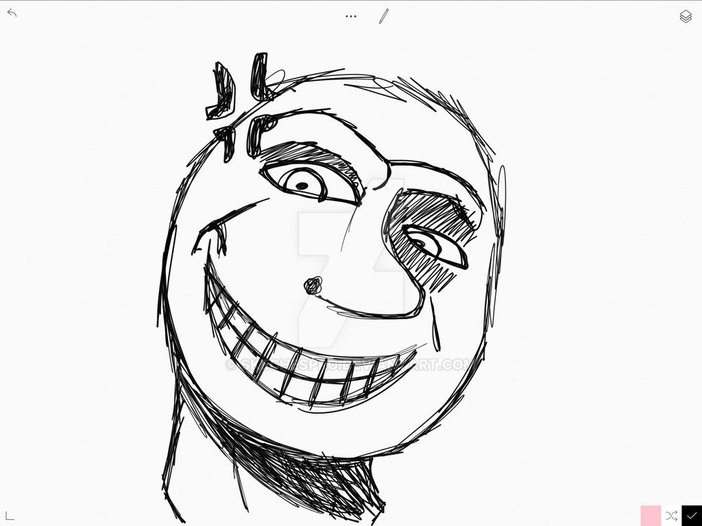 weird face 1 by skechespro on deviantart