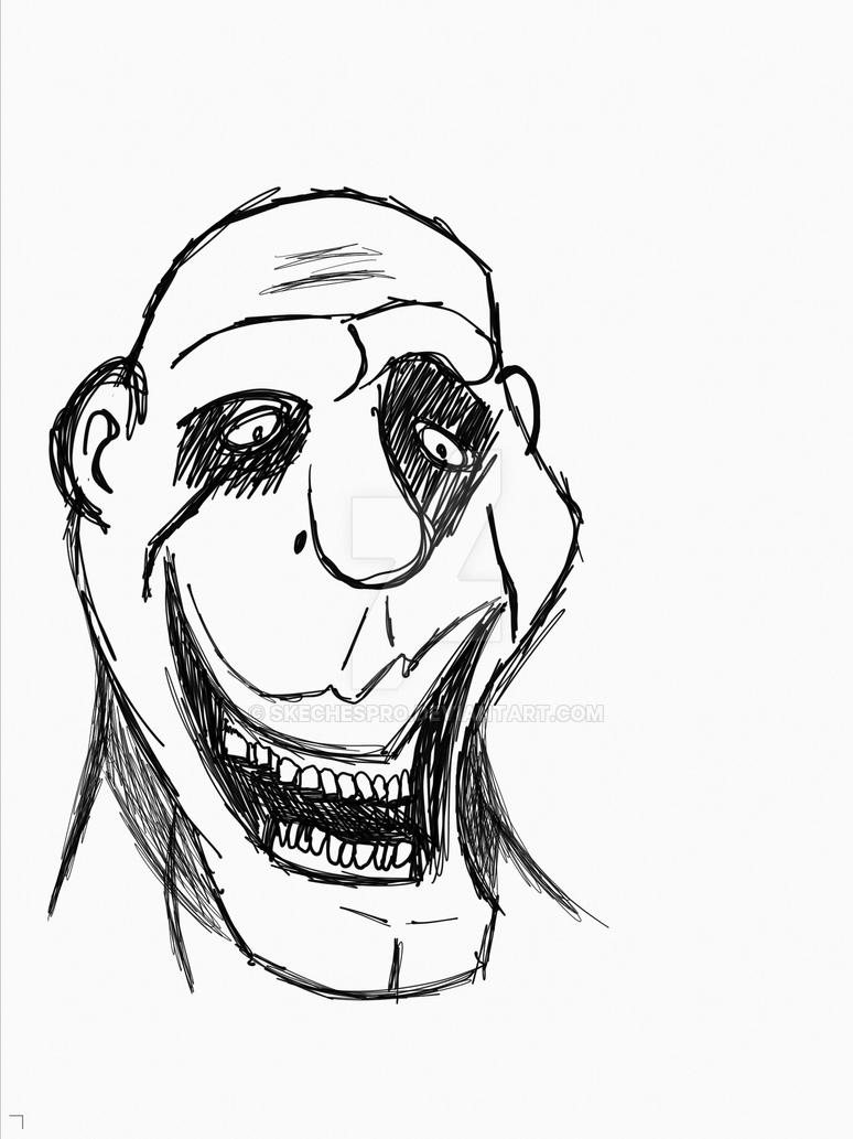 weird face 2 by skechespro on deviantart