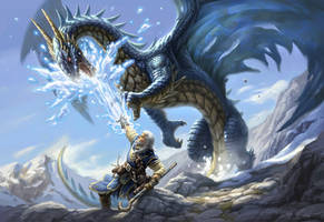 dragonfight by Mike-Sass