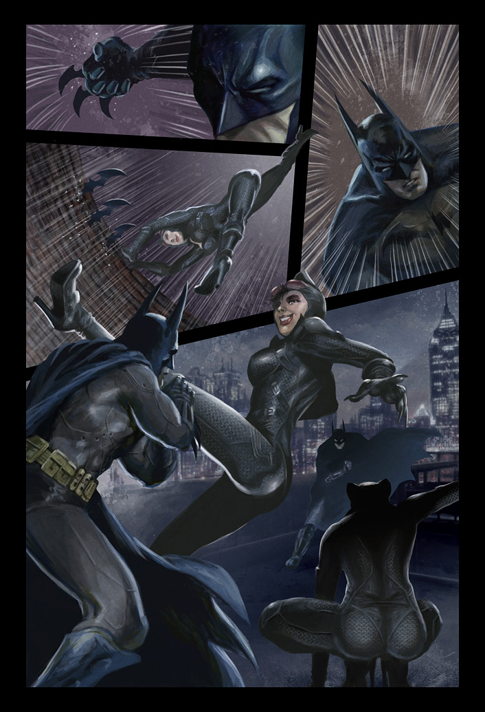 Batman and Catwoman page 3 by deanhsieh