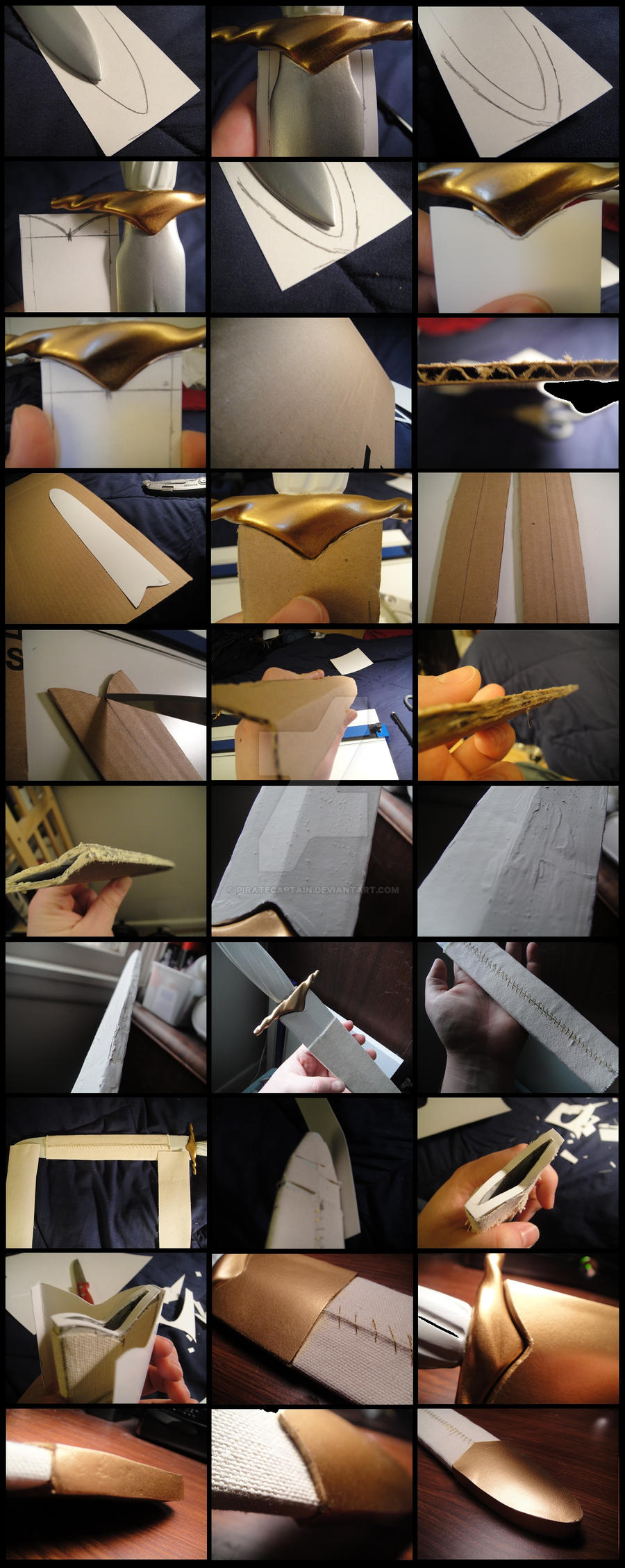 Study on Cardboard Sheaths by piratecaptain