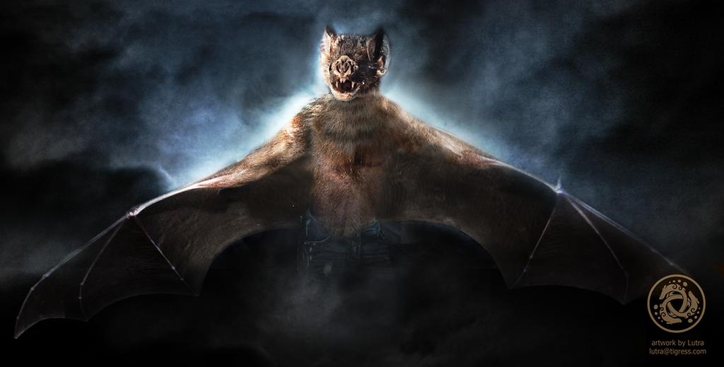 Fierce vampire bat by Lutra75