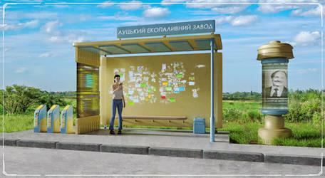 Suburban bus stop