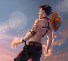 One Piece: Portgas D. Ace by NamirJ
