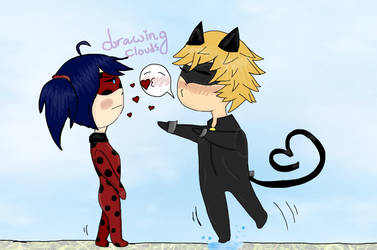 no love for Chat Noir by DrawingClouds