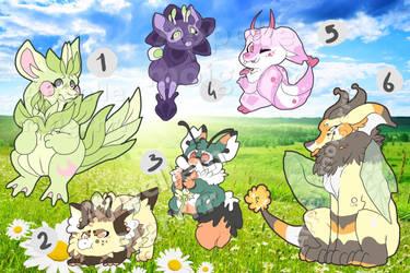 Plant and bug Dragon adopts : CLOSED