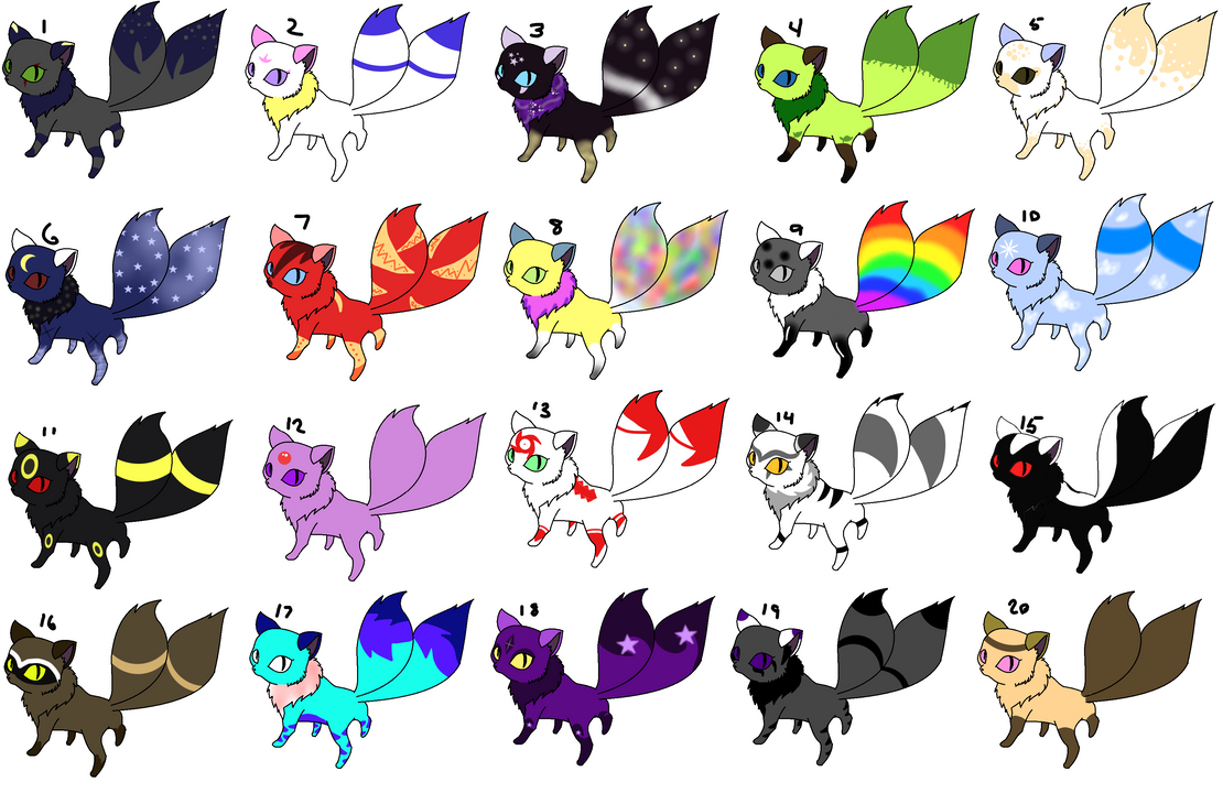 Demon Cat Adoptables CLOSED by Aven-Mochi on DeviantArt