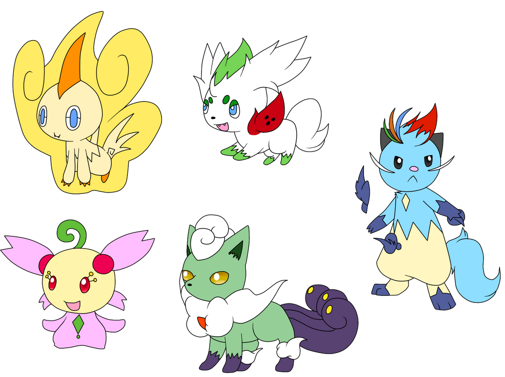 Pokemon Forme Hybrid Adopts by Aven-Mochi