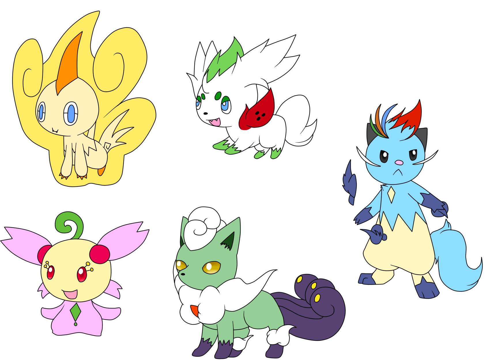 Pokemon Forme Hybrid Adopts by Aven-Mochi