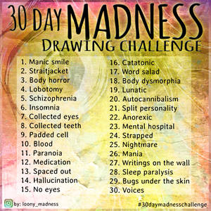 30 Day Madness Drawing Challenge