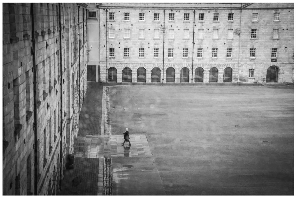 Rainy courtyard of Collins Barracks by macu