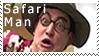 Safari Man Stamp by fothermuck