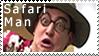 Safari Man Stamp by fothermuck
