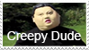 Creepy Dude Stamp by fothermuck