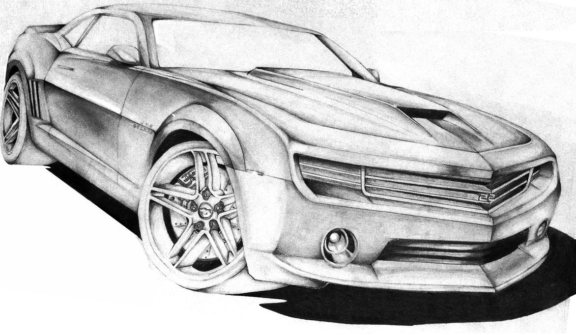 How to draw Camaro 2012