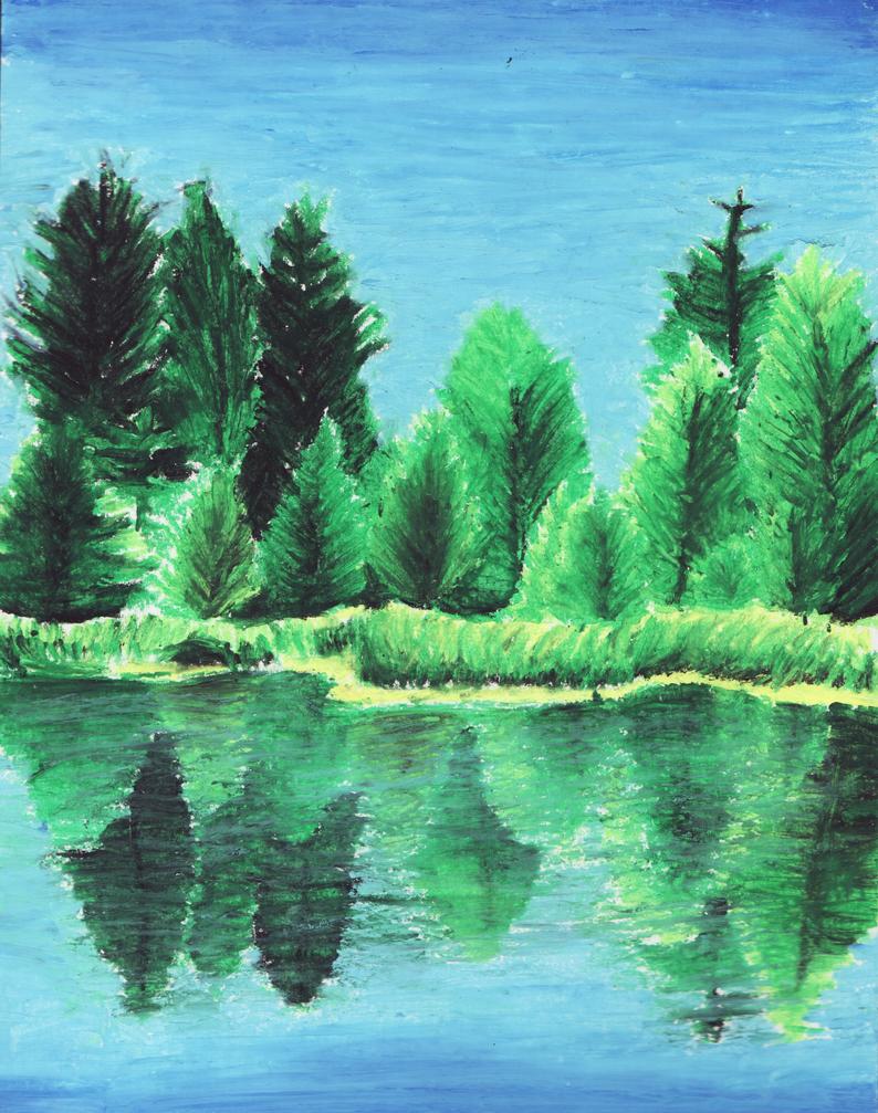 Oil Pastel Landscape by AliceAlicaArisu on DeviantArt