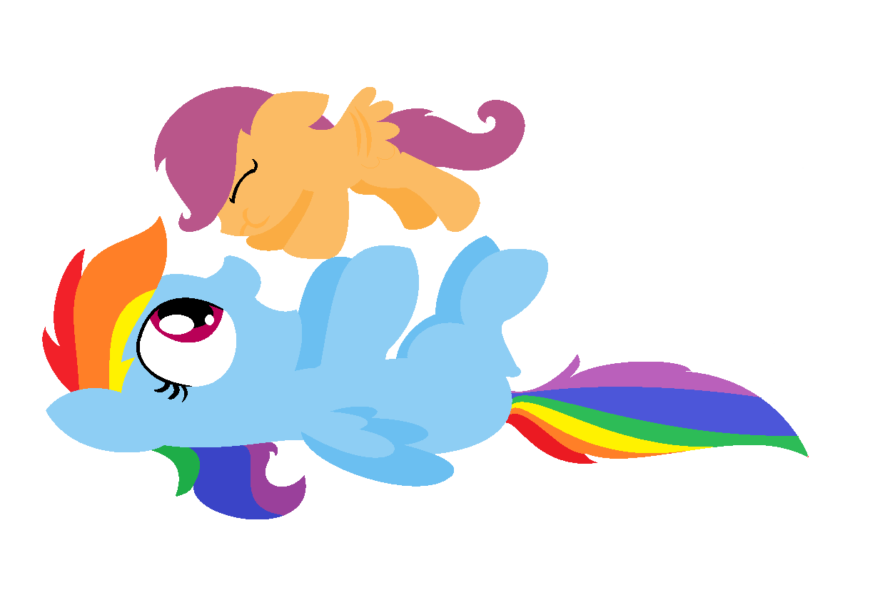 Filly Rainbow Dash And Baby Scootaloo By Violetandblaire On Deviantart Rainbow dash is one of the mane 6. filly rainbow dash and baby scootaloo