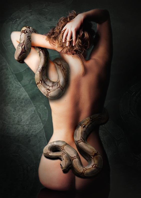 Girl and snake by L-Pro