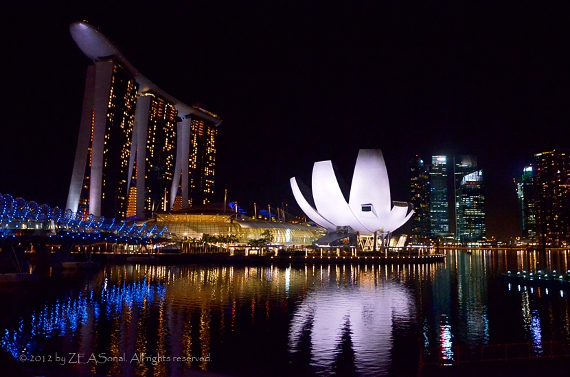 Trip : Night of Marina Bay Sands Singapore by Zeasonal