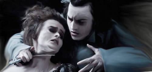 Helena Bonhem Carter Johnny Depp Sweeney Todd Art. by Elen-Snape