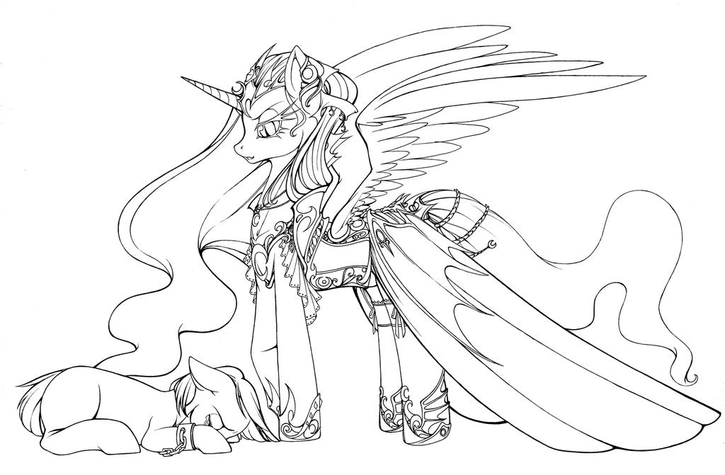 My Little Pony King Sombra Coloring Pages : Cruel moon by longinius ii on deviantart