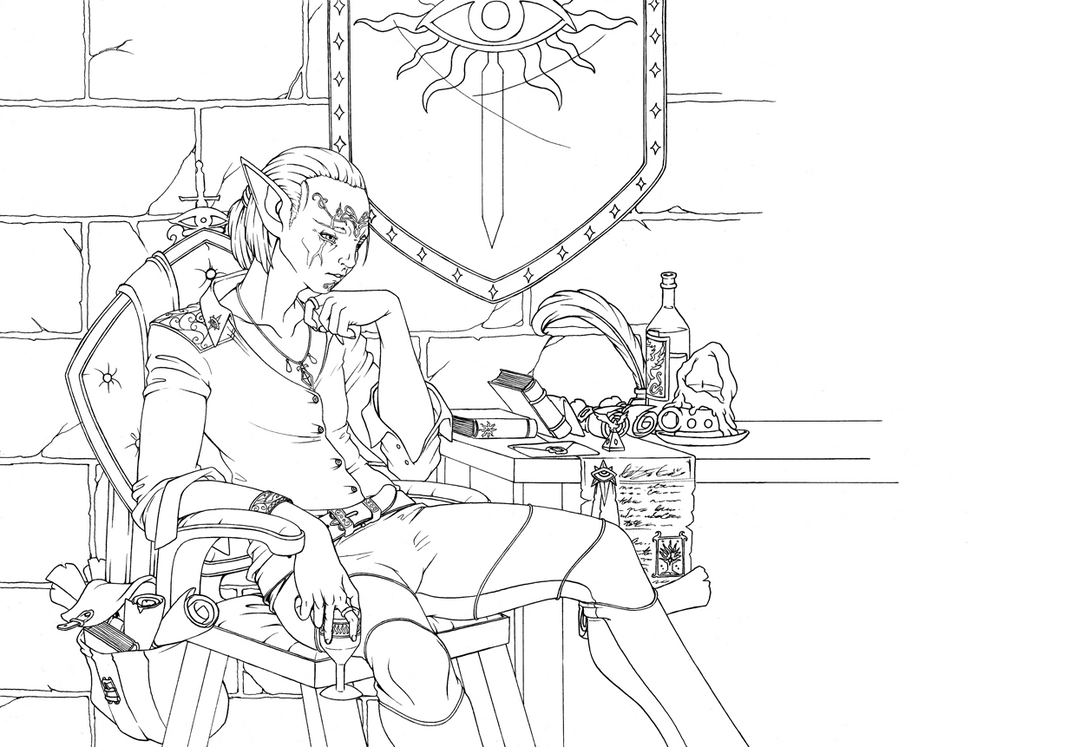 Dragon Age: Inquisition inks by Longinius-II