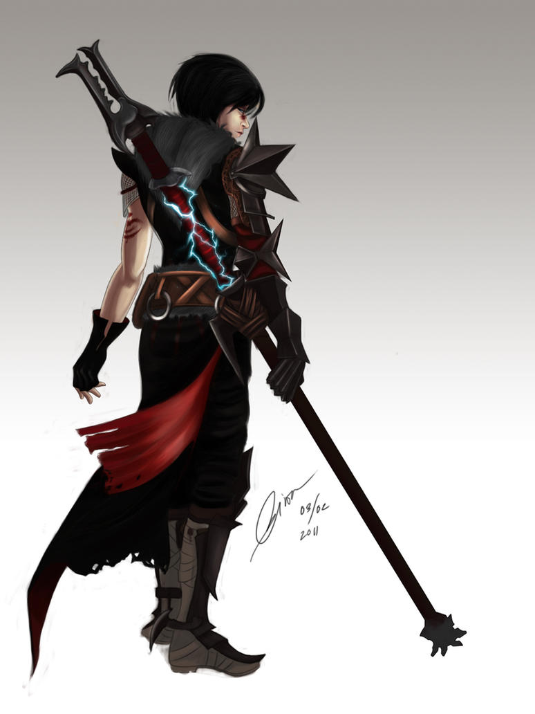 Lady Hawke - Colored by madcoffee
