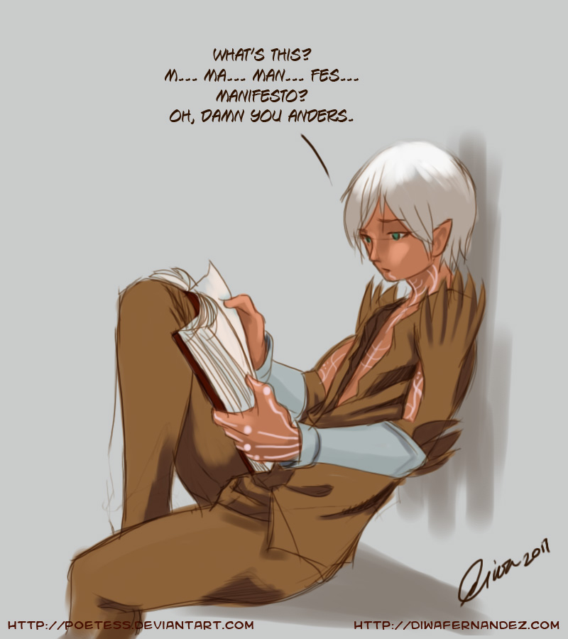 Fenris - Learning How to Read by madcoffee