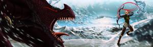 Commission: Dragon vs Ranger