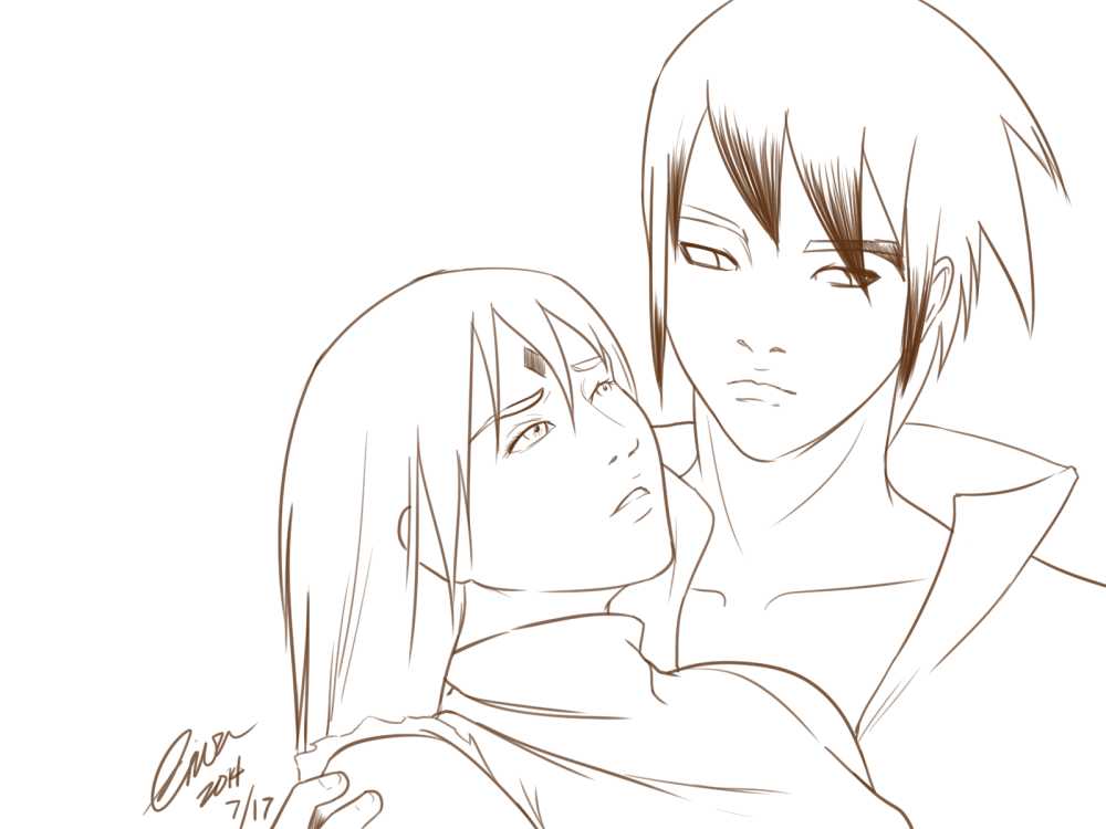 Sasuke catching Sakura by madcoffee