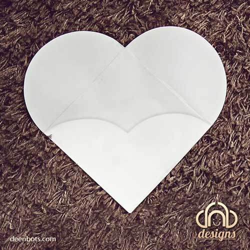 Hidden Heart Shaped Envelope by madcoffee