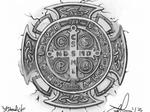 saint benedict cucifix pendant