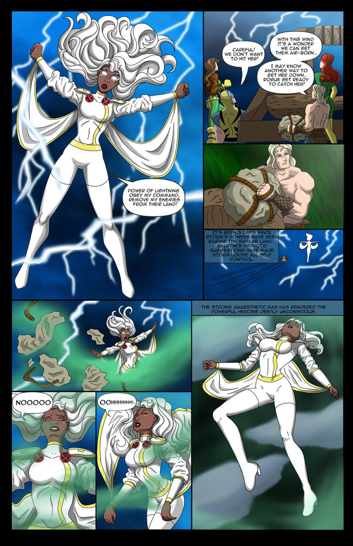 Storm's Savage Land Rescue Mission - 01 by BobKO