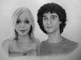 Portrait of a friend and his girlfriend. by chartreuxxx