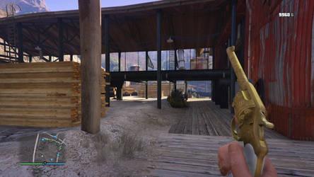 Golden Revolver! by Lunaroyalguard