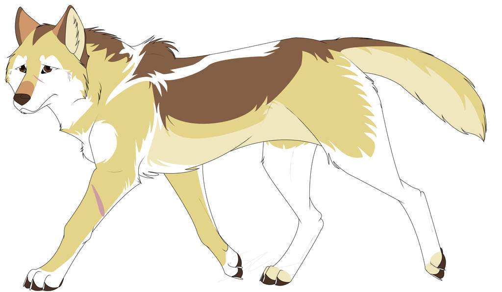 Yellow Anime Wolf Blonde Wolf ---Closed-...