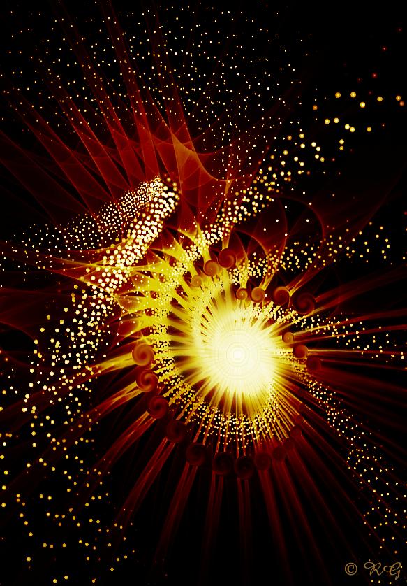 Caramel Comet by fractal1
