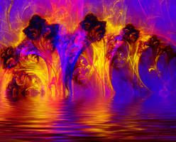 Swamp Fire by fractal1